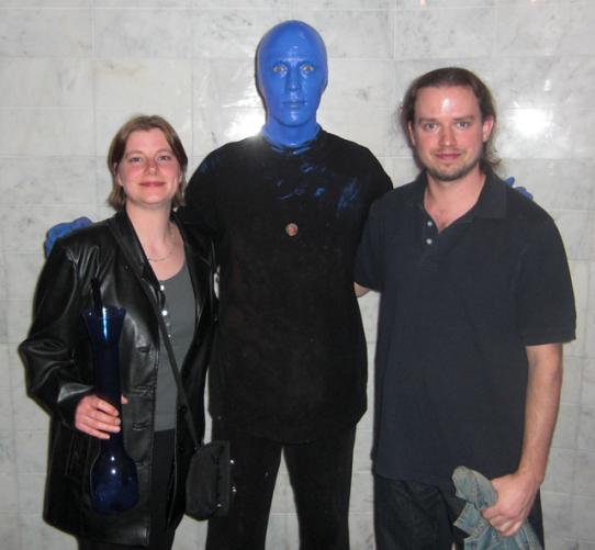 A Blue Man and our Big Blue Mai Tai