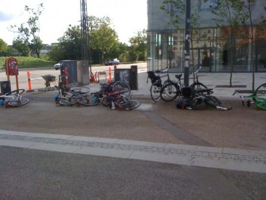 And then a big gust of wind knocked over every bike in Denmark.