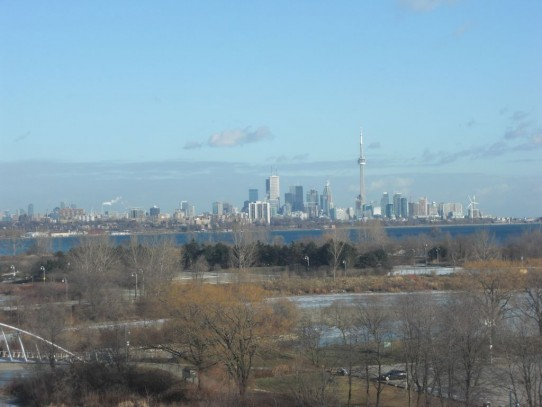 Pic of Toronto skyline from my parents' condo