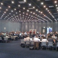 Attending code sprint on final day of #drupalcon. Hundreds of geeks trying ...